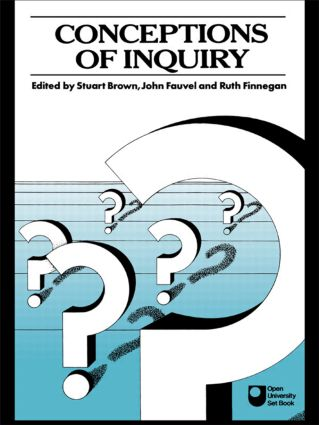 Conceptions of Inquiry: 1st Edition (Paperback) book cover