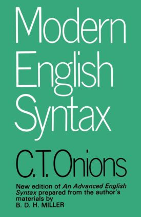 Modern English Syntax: 7th Edition (Paperback) book cover