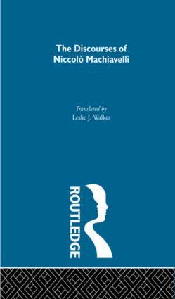 The Discourses of Niccolo Machiavelli (e-Book) book cover