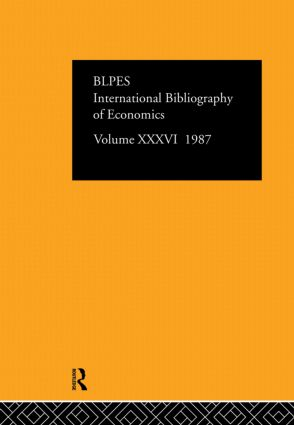 IBSS: Economics: 1987 Volume 36 book cover