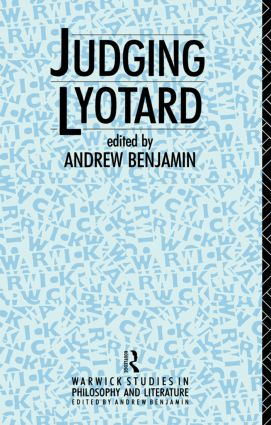 Judging Lyotard (Paperback) book cover