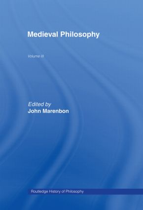 Routledge History of Philosophy Volume III: Medieval Philosophy book cover