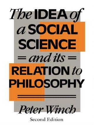 The Idea of a Social Science