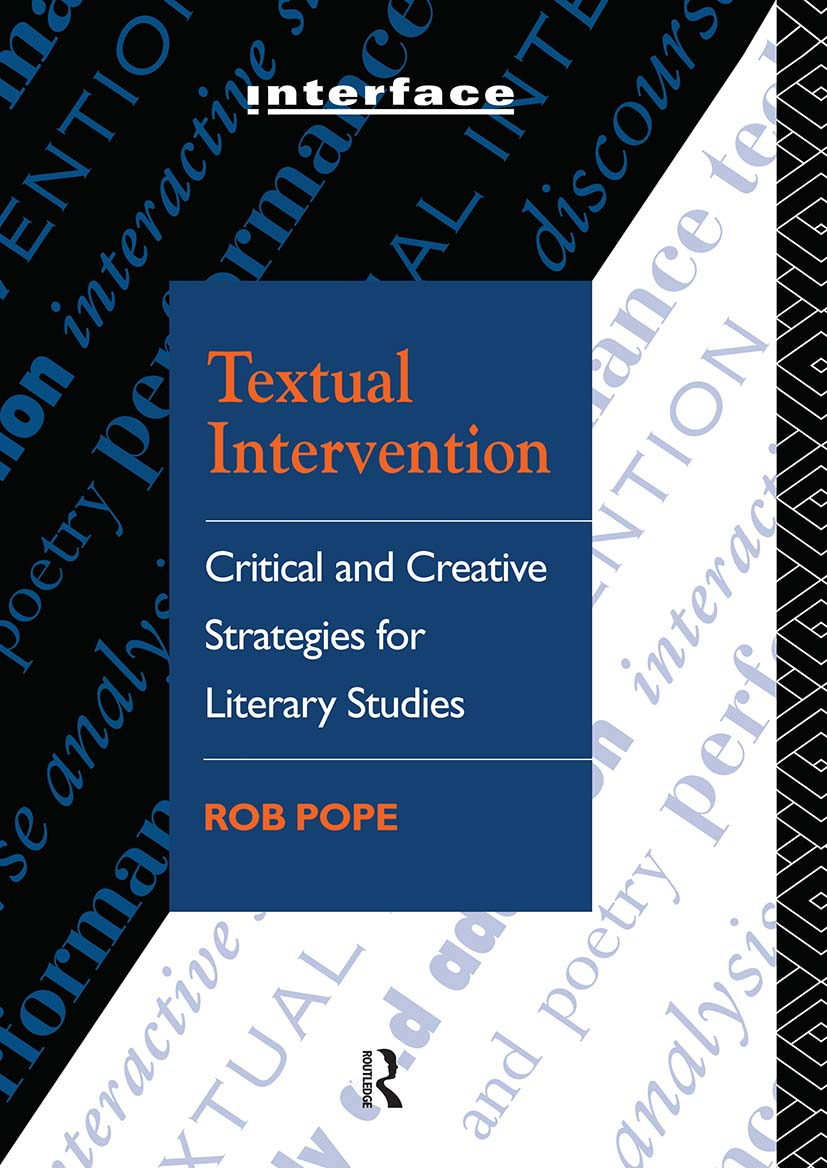 Textual Intervention: Critical and Creative Strategies for Literary Studies (Paperback) book cover