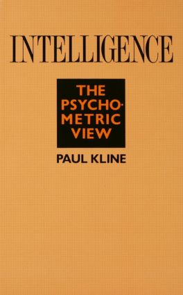 Intelligence: The Psychometric View (Paperback) book cover