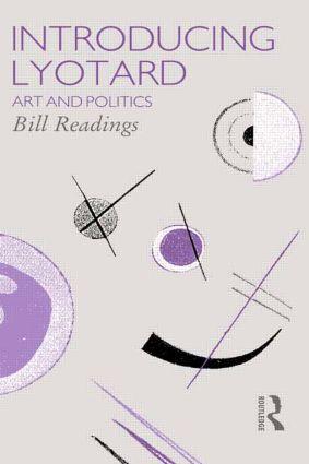 Introducing Lyotard: Art and Politics book cover
