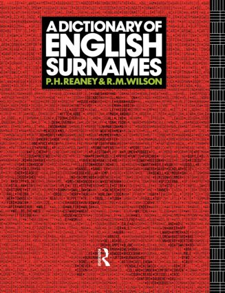A Dictionary of English Surnames: 1st Edition (Hardback) book cover