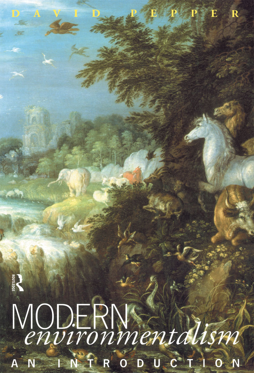 Modern Environmentalism: An Introduction (Paperback) book cover