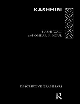 Kashmiri: A Cognitive-Descriptive Grammar book cover
