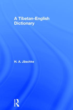 Tibetan-English Dictionary: 1st Edition (Paperback) book cover