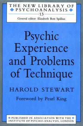 Psychic Experience and Problems of Technique