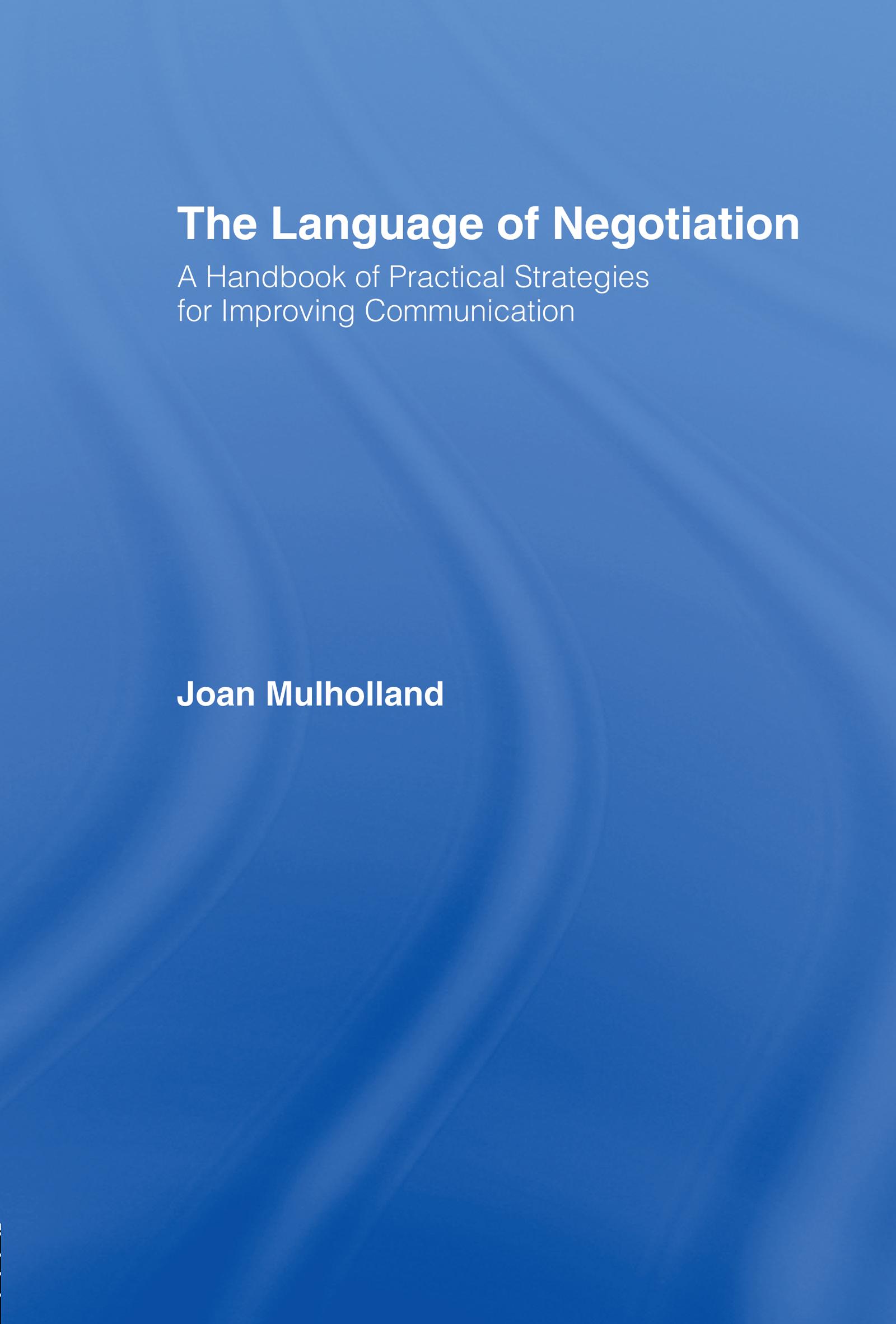 The Language of Negotiation