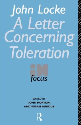 John Locke's Letter on Toleration in Focus (Paperback) book cover