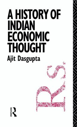 A History of Indian Economic Thought (Hardback) book cover