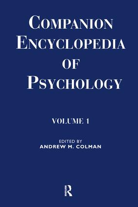 Companion Encyclopedia of Psychology: 2-volume set, 1st Edition (Hardback) book cover