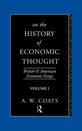 On the History of Economic Thought (Hardback) book cover