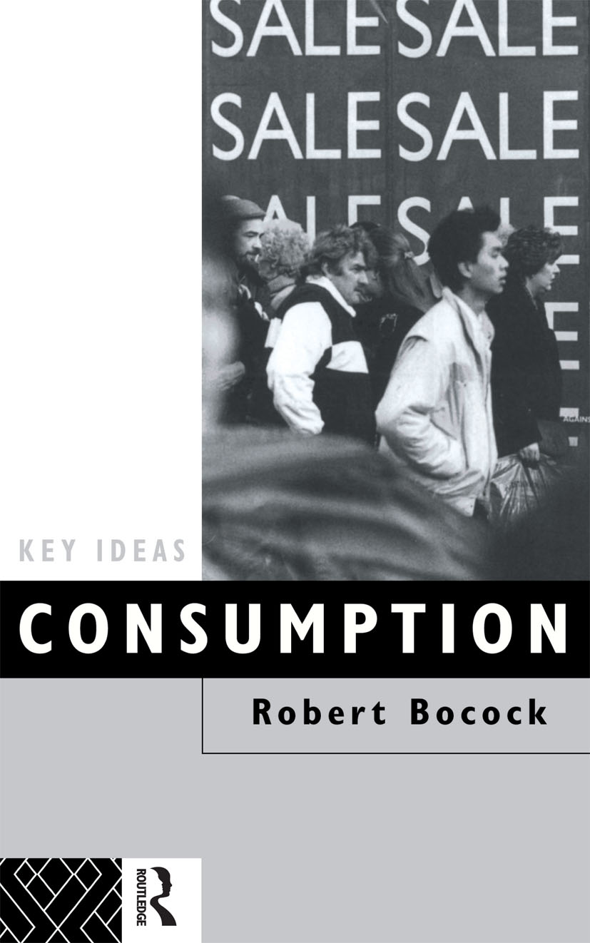 Consumption book cover