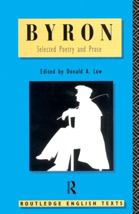 Byron: Selected Poetry and Prose (Paperback) book cover