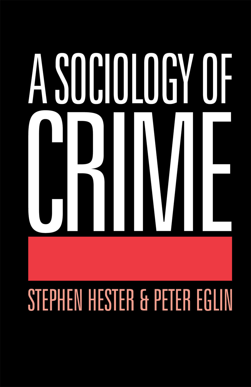 A Sociology of Crime (Paperback) book cover