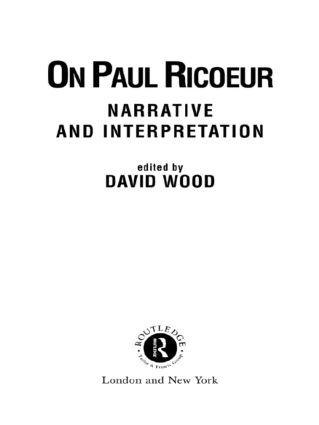 On Paul Ricoeur: Narrative and Interpretation book cover
