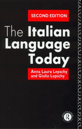 The Italian Language Today: 2nd Edition (Paperback) book cover