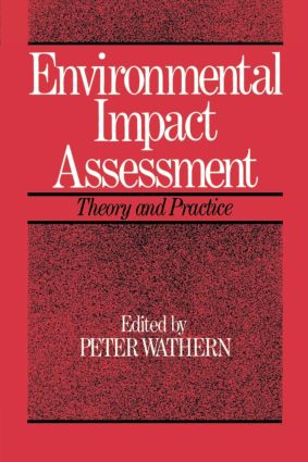 Environmental Impact Assessment: Theory and Practice, 1st Edition (Paperback) book cover
