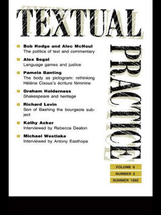 Textual Practice: Volume 6, Issue 2, 1st Edition (Paperback) book cover