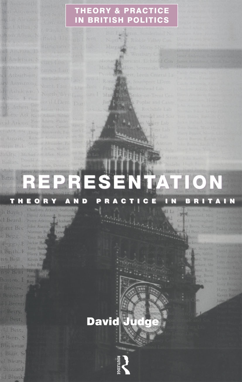 Representation: Theory and Practice in Britain book cover