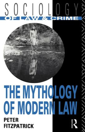The Mythology of Modern Law (Paperback) book cover