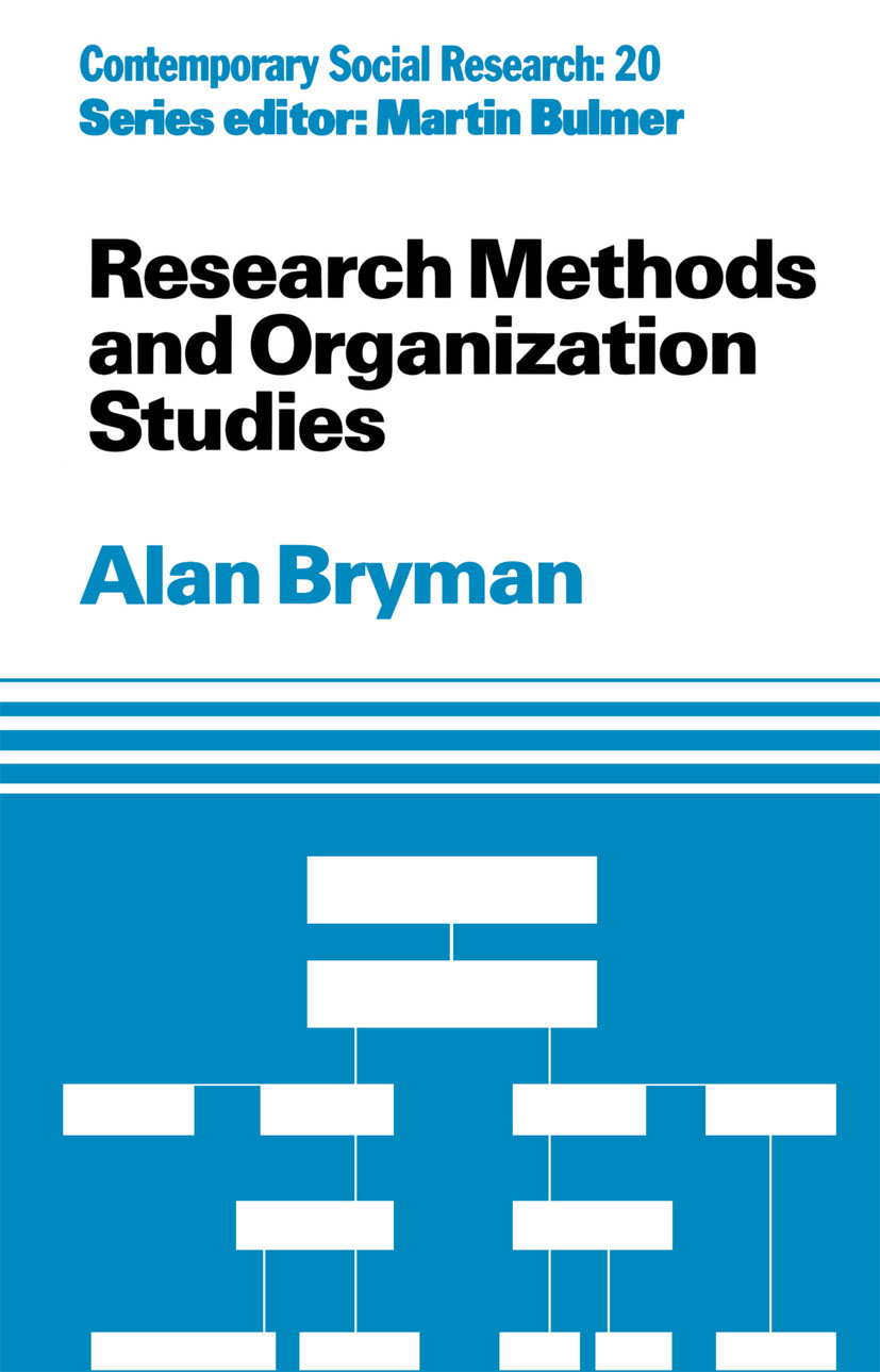 Research Methods and Organization Studies (Paperback) book cover