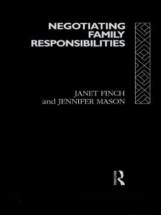 Negotiating Family Responsibilities (Paperback) book cover