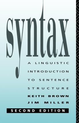 Syntax: A Linguistic Introduction to Sentence Structure, 2nd Edition (Paperback) book cover
