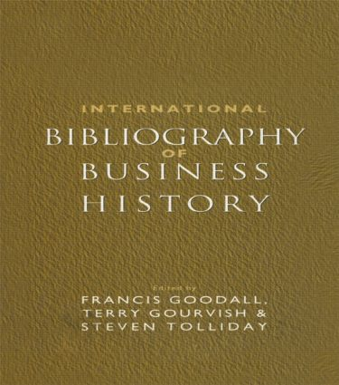 International Bibliography of Business History (Hardback) book cover