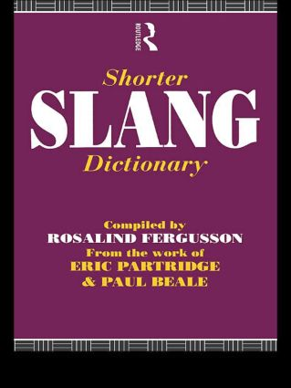 Shorter Slang Dictionary (Paperback) book cover