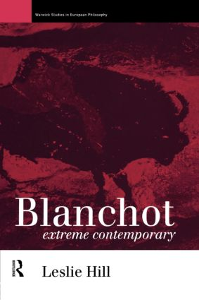 Blanchot: Extreme Contemporary (Paperback) book cover
