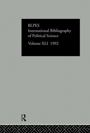 IBSS: Political Science: 1992 Vol 41: 1st Edition (Hardback) book cover