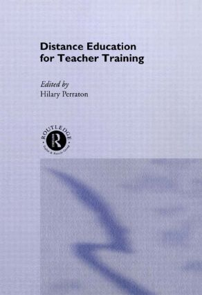 Distance Education for Teacher Training (Hardback) book cover