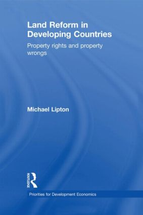 Land Reform in Developing Countries: Property Rights and Property Wrongs (Hardback) book cover