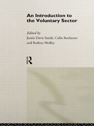 Introduction to the Voluntary Sector (Hardback) book cover