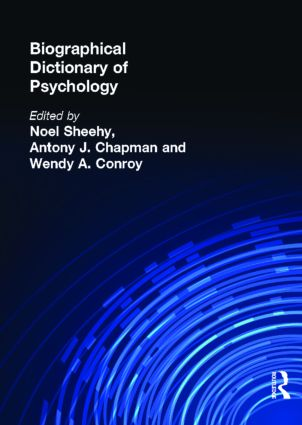 Biographical Dictionary of Psychology book cover