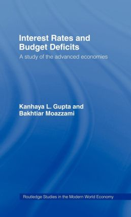 Interest Rates and Budget Deficits: A Study of the Advanced Economies, 1st Edition (Hardback) book cover