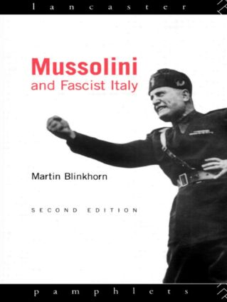 Mussolini and Fascist Italy book cover