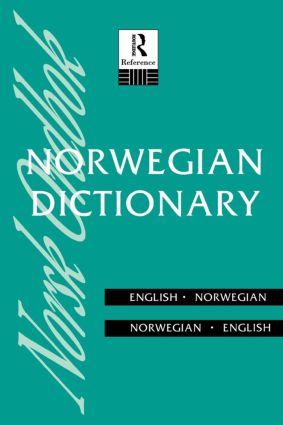Norwegian Dictionary: Norwegian-English, English-Norwegian (Paperback) book cover