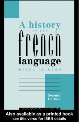 A History of the French Language: 2nd Edition (Paperback) book cover