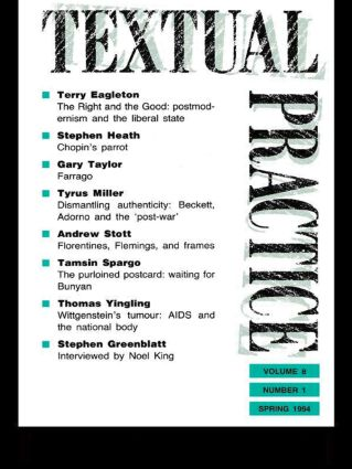 Textual Practice: Volume 8, Issue 1, 1st Edition (Paperback) book cover