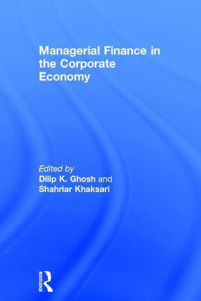 Managerial Finance in the Corporate Economy (Hardback) book cover