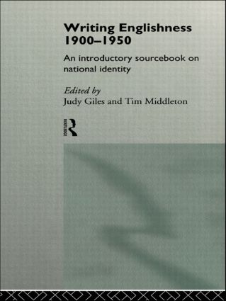 Writing Englishness: An Introductory Sourcebook: 1st Edition (Paperback) book cover