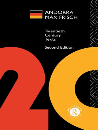 Andorra: Max Frisch, 2nd Edition (Paperback) book cover