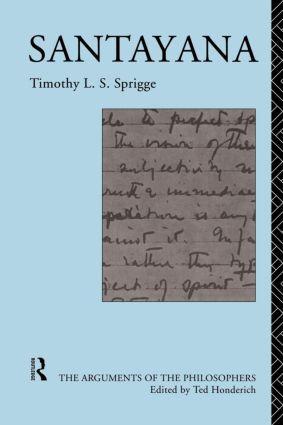 Santayana (Paperback) book cover