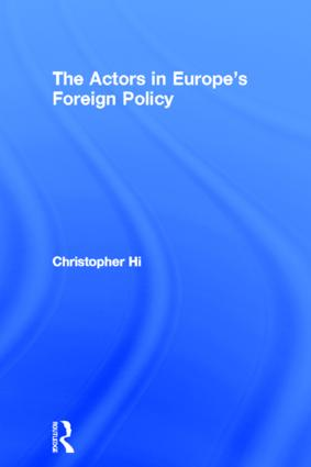 The Actors in Europe's Foreign Policy (Paperback) book cover